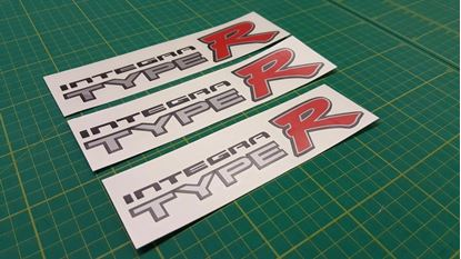 Picture of Honda Integra Type R DC2 side and rear Decals / Stickers