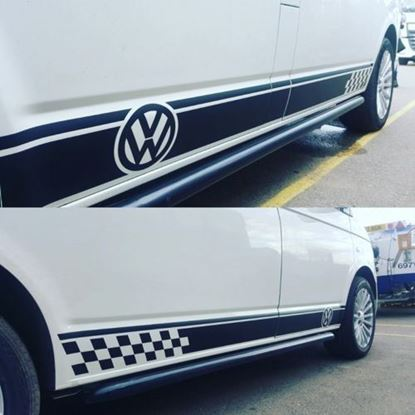 Picture of VW T5 / T6 Short Wheel Base side Stripes / Stickers