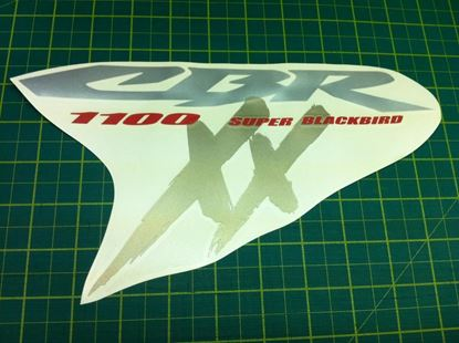 Picture of Honda CBR Super Blackbird 1100 XX two replacement fairing Decals / Sticker