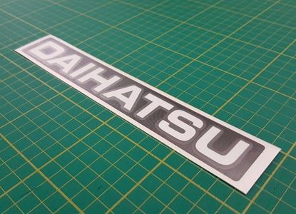 Picture of Daihatsu Fourtrak & Charade replacement rear / tailgate Decal / Sticker