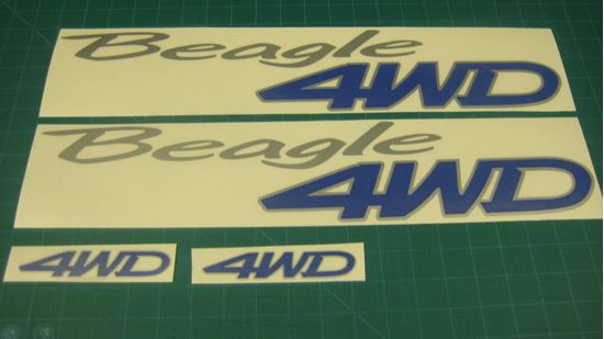 Picture of Honda Civic Shuttle Beagle 4WD replacement side and rear Decals / Stickers