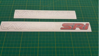 Picture of Vauxhall Cavalier MK3 SRi 16v replacement rear Decals / stickers