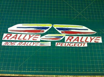 Picture of Peugeot 306 Rallye full replacement Decals / Stickers