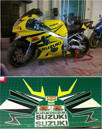 Picture of Suzuki GSX-R 750  2004 - 2005 replacement Decals / Stickers