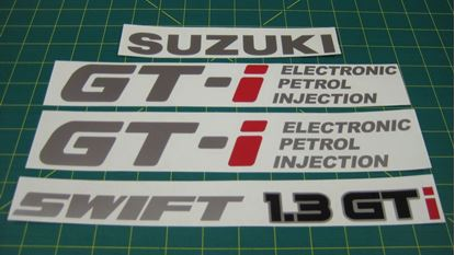 Picture of Suzuki Swift 1.3 GTi Electronic petrol injection Replacement Decals Stickers