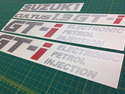 Picture of Suzuki Cultus1.3 GTi Electronic petrol injection Replacement Decals Stickers