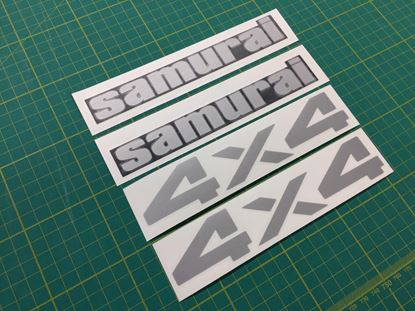 Picture of Suzuki Samurai 4x4 Jeep replacement Restoration Decals Stickers