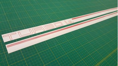 Picture of Fiat MK2 Uno Turbo replacement side Stripes / Stickers