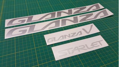 Picture of Toyota Starlet Glanza Turbo V 5 EP91 / EP82 replacement Decals / Stickers