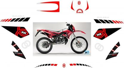 Picture of Gilera RCR 50 full replacement Decals Sticker kit