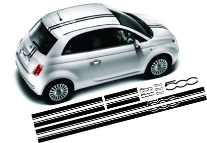 Picture of Fiat 500 over the top Stripes / Stickers