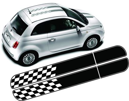 Picture of Fiat 500 / 595 Over the top Stripes / Stickers
