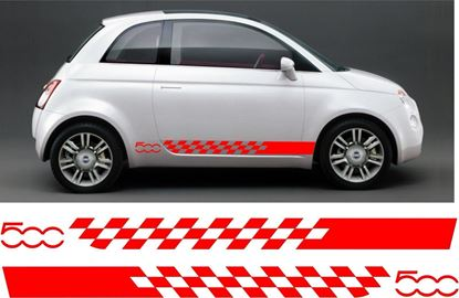 Picture of Fiat 500 Side Stripes Graphics Stickers Decals