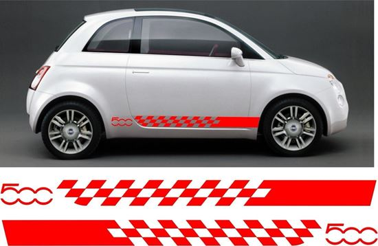 Zen Graphics Fiat 500 Side Stripes Graphics Stickers Decals
