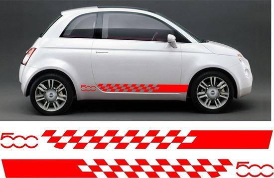Zen Graphics Fiat 500 Side Stripes Graphics Stickers Decals