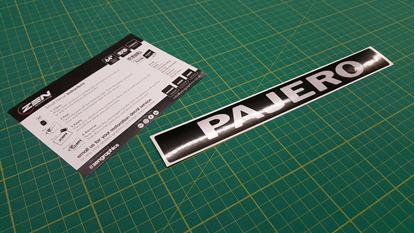 Picture of Mitsubishi Pajero replacement rear Decal / Sticker