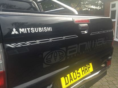 Picture of Mitsubishi L200 replacement rear Animal Graphic / Sticker