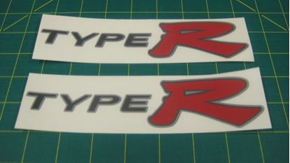 Picture of Honda Civic EP3 Type R replacement side Decals / Stickers for darker paint