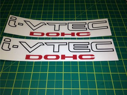 "Picture of Honda Accord, Civic ""I-Vtec DOHC"" Decals / Stickers"