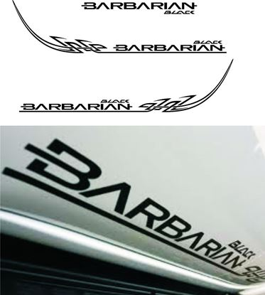 Picture of Mitsubishi L200 Barbarian Black Tribal Graphics / Stickers