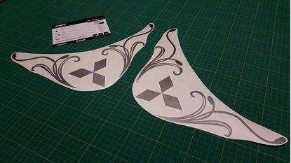 Picture of Mitsubish L200 Corner glass Stickers /  Decals