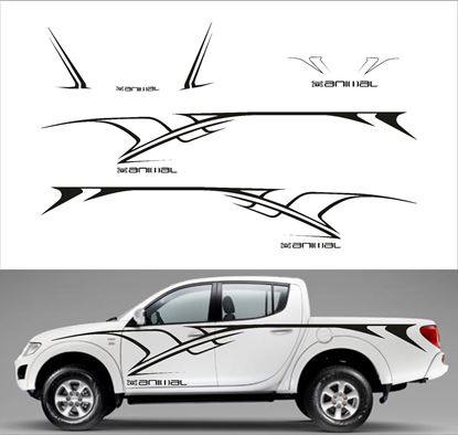 Picture of Mitsubishi L200 / Warrior / Triton  Animal full Tribal side, Bonnet and rear graphics kit - Solid version