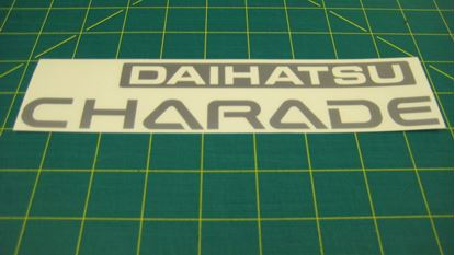 Picture of Daihatsu Charade classy G100 G102 Third Generation  , Replacement tailgate Decal Sticker