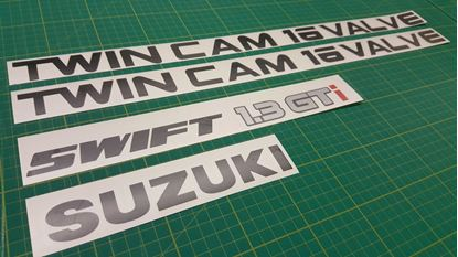 Picture of Suzuki Swift 1.3 GTi Twin Cam 16 Valve Replacement Decals Stickers
