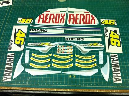 Picture of Yamaha Aerox 50 2007  Rossi replica Decals / Stickers
