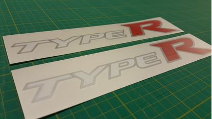 Picture of Honda Civic FN2 Type R replacement side Decals /  Stickers