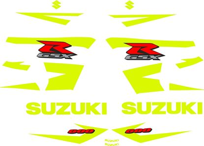 Picture of GSX-R 600 2004 -2005 K4 / K5 Custom fluorescent replacement Decals Stickers