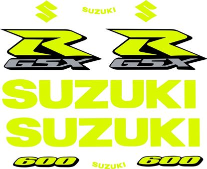 Picture of GSX-R 600  K4 / K5 Custom fluorescent Decals / Stickers