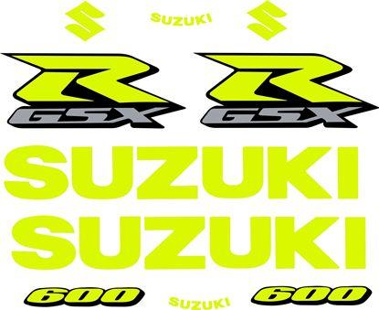 Picture of GSX-R 600  K4 / K5 Custom fluorescent Decals / Stickers