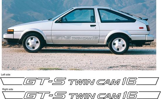 Toyota Corolla AE86 GT-S GTS twin cam 16v side replacement restoration  decals stickers 1984 - 1987