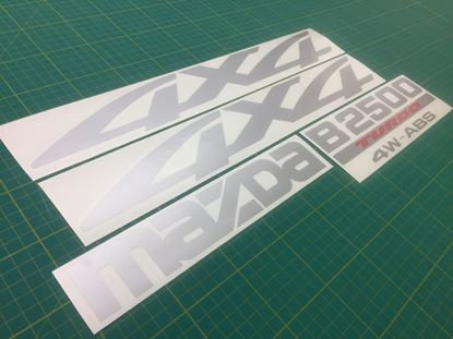 Picture of Mazda B2500 / BT-50 replacements Decals / Stickers
