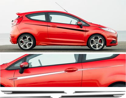 Picture of Ford Fiesta MK7 side Stripes / Stickers 3 DOOR