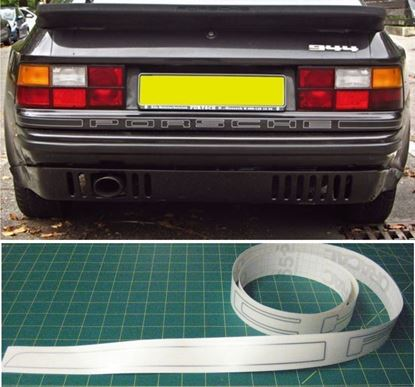 Picture of Porsche 944 / 924 Turbo replacement rear Decal / Sticker