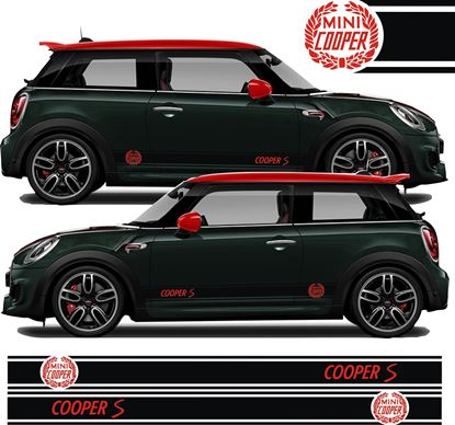 Picture of Mini Hatchback Cooper S side Stripes / Stickers