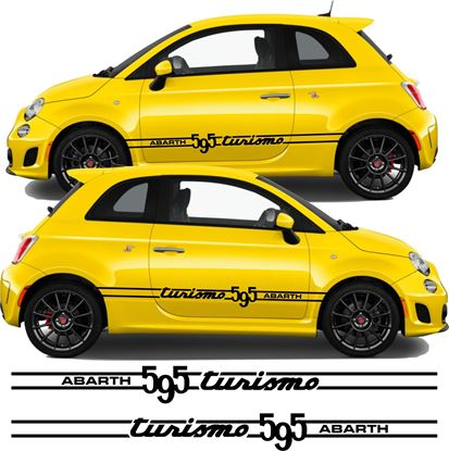 Picture of Fiat 595 Abarth Turismo side Stripes / Stickers
