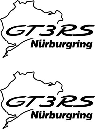 Picture of Porsche GT3 RS  Nurburgring Decals Stickers