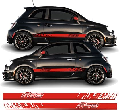 Picture of Fiat 595 Pista Abarth side Stripes / Stickers