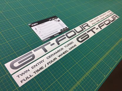 Picture of Toyota Celica GT-Four replacement side Decals / Stickers