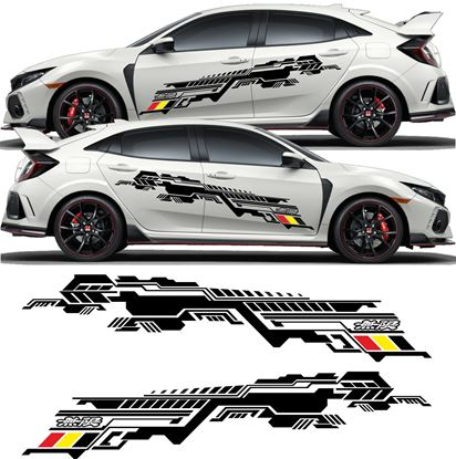 Picture of Honda Civic FK2 / FK8 Mugen side graphics / Stickers