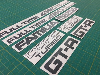 Picture of Mazda Familia 323 GT-R replacement Decals / Stickers