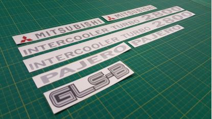 Picture of Mitsubishi Pajero / Shogun replacement Decals / Stickers