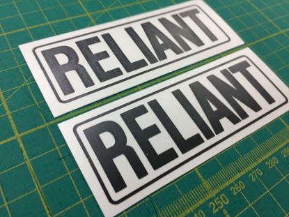 Picture of Reliant Replacement rear hatch Decals Stickers