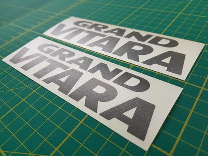 Picture of Suzuki Grand Vitara replcement rear quarter Decal / Stickers