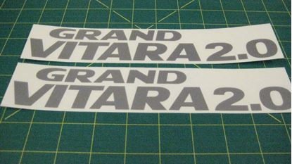 Picture of Suzuki Grand Vitara 2.0  replacement side rear quarter Decals Stickers