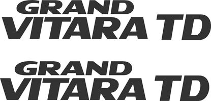 Picture of Suzuki Grand Vitara TD replcement rear quarter Decals Stickers