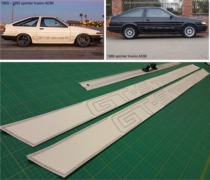 Picture of Toyota Corolla AE86 GT-S Twin cam 16V  side Decals Stickers